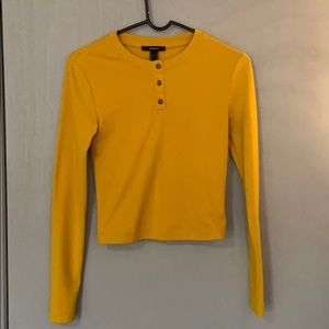 Button - Up Long Sleeve in Bright Mustard